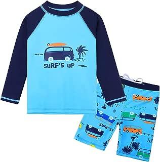 Baby Toddler Boy Swimsuit Rashguard Set UPF 50+ Swimwear