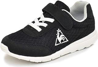 キッズシューズ ジュニア スニーカー 男の子 女の子 子ども/ルコック le coq sportif LA セーヌ ライト キッズ/子供靴 16.0-22.0cm ブラック 軽量 ベルクロ 通園 通学 靴 くつ/QL4LJC01