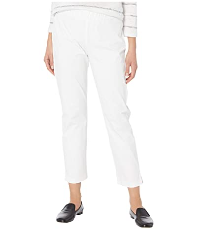 Eileen Fisher Mid-Rise Ankle Pants w/ Slits (White) Women