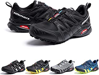 Zapatillas De Trail Running Impermeables para Hombre Mujer Zapatillas Trekking Zapatos Senderismo Deporte Negro Talla44