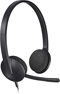 Logitech 981-000475 H340 USB Headset for PC and Mac, Black
