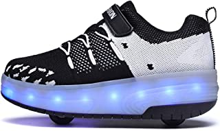 Unisex Bambino LED Scarpe con Rotelle Automatiche Skate Formatori Scarpe LED 7 Colore USB Carica LED Lampeggiante Luminosi...