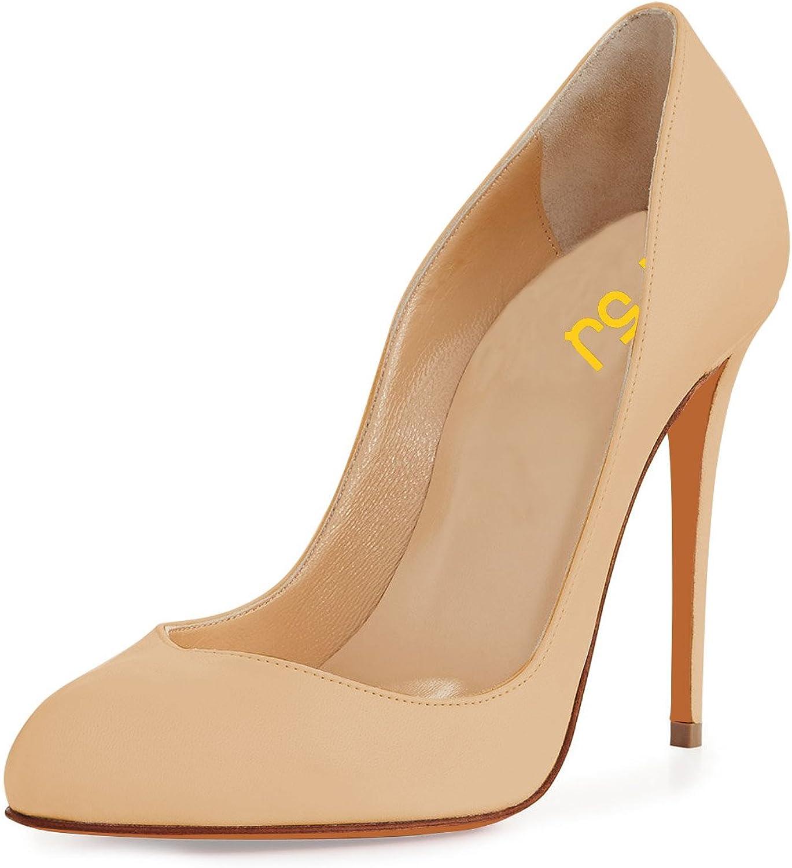 FSJ Kvinnliga klassiska Almond Toe Toe Toe Kvällspumpar Stilettos High klackar Slip On Dress skor Storlek 4 -15 USA  världsberömd försäljning online