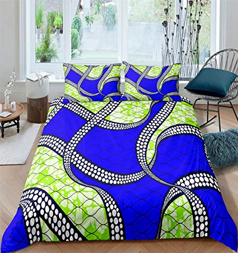 NKJSANFOI Exotic Geometric Duvet Cover Set Mandala Bedding Colorful Abstract Art Quilt Cover Queen Bed Set Teens