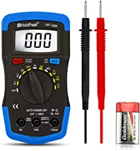 Holdpeak Multimeter,Auto Range Digital Capacitor Meter 4000 Counts with hFE, Diode,DC & AC Voltage, DC & AC Current, Resistance, Capacitance, Frequency,Voltage Tester-HP-36K
