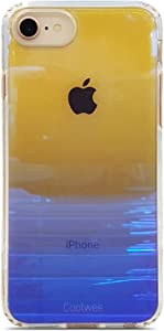 Coolwee iPhone 7 Case,iPhone 8 Case Clear iPhone 6s Shockproof Mirror Finish Gradient Transparent Hard Cover Bumper Shiny Glitter Cool Slim Protective for Apple iPhone 8 iPhone 7 iPhone 6s Purple