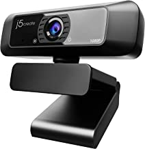 j5create USB Streaming Webcam - 1080P HD with 360° Rotation, High Fidelity Microphone, Plug and Play for PC/Mac/Laptop/Des...