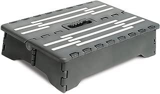 BodyHealt Portable Folding Riser Step Stool - Black