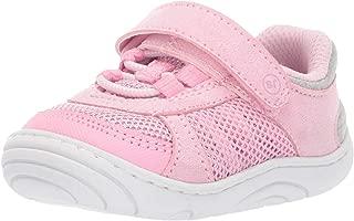 unisex-baby Aspen Machine Washable Sneaker First Walker Shoe, Pink, 4 M US Toddler