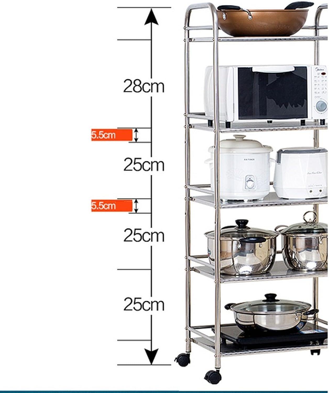 Kitchen Shelf Floor Microwave Oven Shelf Kitchen Storage Rack Stainless Steel Pot Racks Shelves -by TIANTA
