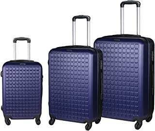 Mulaechic Luggage Sets 3 Piece Set Carry on Hardside Luggage, Lightweight ABS Suitcase Set with Spinner Wheels