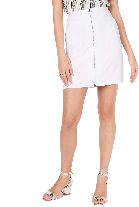 INC International Concepts Zip-Front Mini Skirt