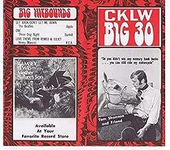 CKLW Big 30 Detroit VINTAGE April 15 1969 Music Survey The Beatles