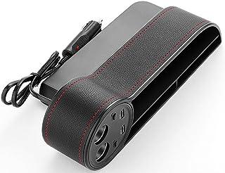 Asiento bolsillo organizador de coches Gap Filler consola cuadro de espacio de almacenamiento de botellas Copa Titular del colector de moneda con el agujero for el cable USB