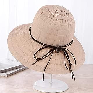 ZRL77y Ladies Bucket Hat Summer,Summer Sun Beach Straw Hat Floppy Foldable Wide BrimGardening Hiking Hat, Women Summer Sun Straw Hat (Color : Beige)
