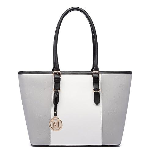 ca32025ac8 Miss LuLu Women s ladies Designer Celebrity Tote Bags Faux Leather Style  Shoulder Shopper Handbags Adjustable Handles