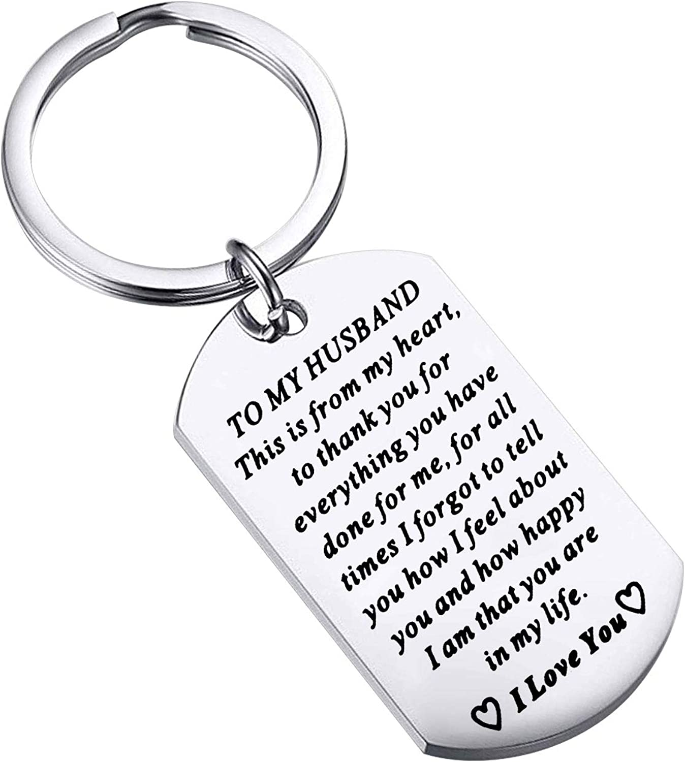 FUSTMW to My Husband Keychain for Our shop OFFers the best Recommendation service Gift Anniversary Birth