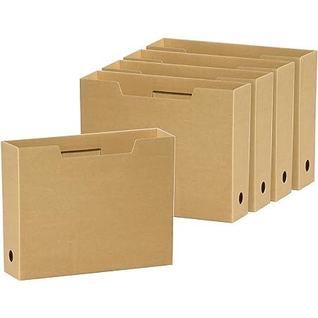 マルアイ 収納ボックス ファイルボックスA4 きなり5P CA-6001N