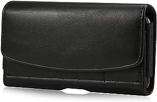 ベルトケース 横型 スマホカバー 本革 Sony Xperia 10 Plus,Xperia 1, Xperia 1 II,Xperia XA Ultra ケース ベルト 携帯電話用 財布式 ブラック Samsung Galaxy s20+5...
