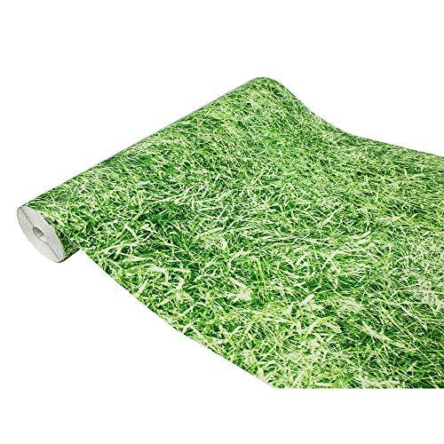 DecoMeister Klebefolie Möbelfolie Selbstklebende Deko-Folie Steindekor Selbstklebefolie Dekoration Motiv Muster 45x100 cm Gras