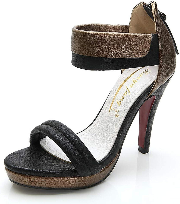 Frauen PU (Polyurethan) Sommer Minimalismus Sandalen Plattform Open Open Toe Weiß Schwarz Farbe Block  der klassische Stil