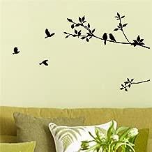 Picniva Birds Flying Tree Branches Wall Sticker Vinyl Art Decal Mural Home Decor