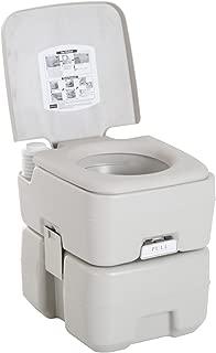 kleankin Inodoro Portátil Químico Baño WC 20L con Tapa para Camping Viaje Ancianos Caravana Barco con Cisterna Carga 200kg - 41.5x36.5x42cm