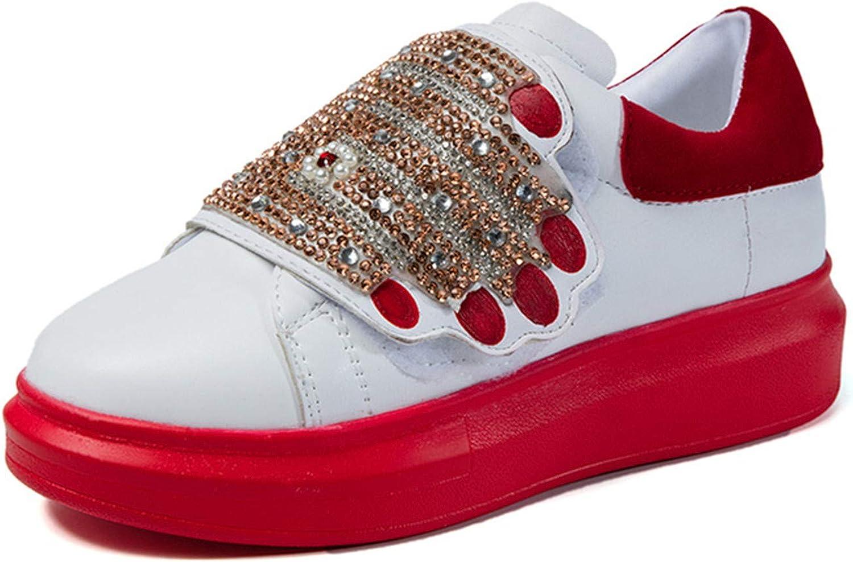 Carolyn Jones Platform shoes Women Sneakers Spring Hook Loop Female Thick Crystal Chaussure Red 5