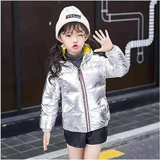Hajotrawa Little Toddler Girls Boys Hooded Zip-Up Down Winter Puffer Parkas Coats Jacket