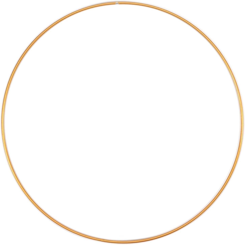 Vaessen Creative Metal para Manualidades, Dorado, 30 cm x 3 mm, Aro Atrapasueños, Anillo de Guirnalda para Tapiz de Macramé, Ganchillo, Bohemia, Decoraciones Nupciales, 1 pieza