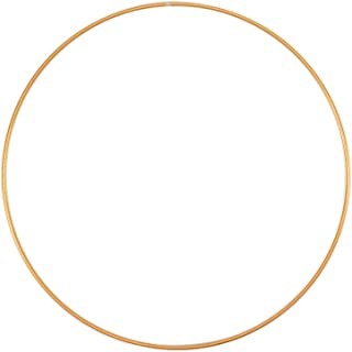 Vaessen Creative Metallhantverk, guld, Ø 30 cm eller 11,8 tum, 3 mm tjock, drömfångarring, kransring för väggupphängning i...