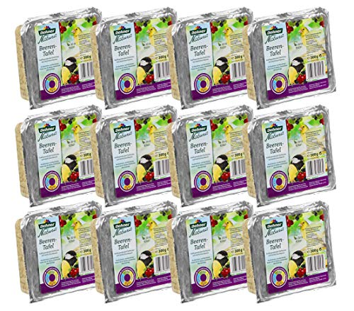 Dehner Natura Wildvogelfutter-Tafeln mit Beeren, 12 x 300 g (3.6 kg)