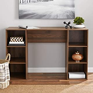 Mainstay` Student Desk, Black (6 Cube Storage Desk, Dark Walnut) (Canyon Walnut)