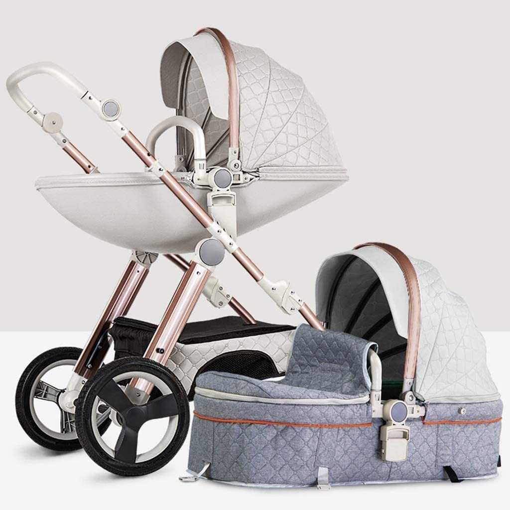 YZPTD High View Pram Max 47% OFF Foldable, Comp Stroller Eggshell Be super welcome