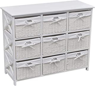 Tuduo Armoire de rangement Blanc Robuste, résistante, design unique Armoire bibliothèque pour bureau, armoire de salle de ...