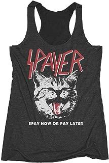 Womens Spayer Cat Shirt - Vintage Rock Slayer T-Shirt Parody