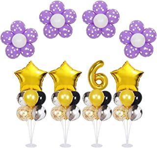 4 Pack of Clear Balloon Stand Kit with 7 Sticks 7 Cups and 1 Base Table Desktop Holder for Birthday Party Baby Shower Wedding Halloween Christmas Decoration
