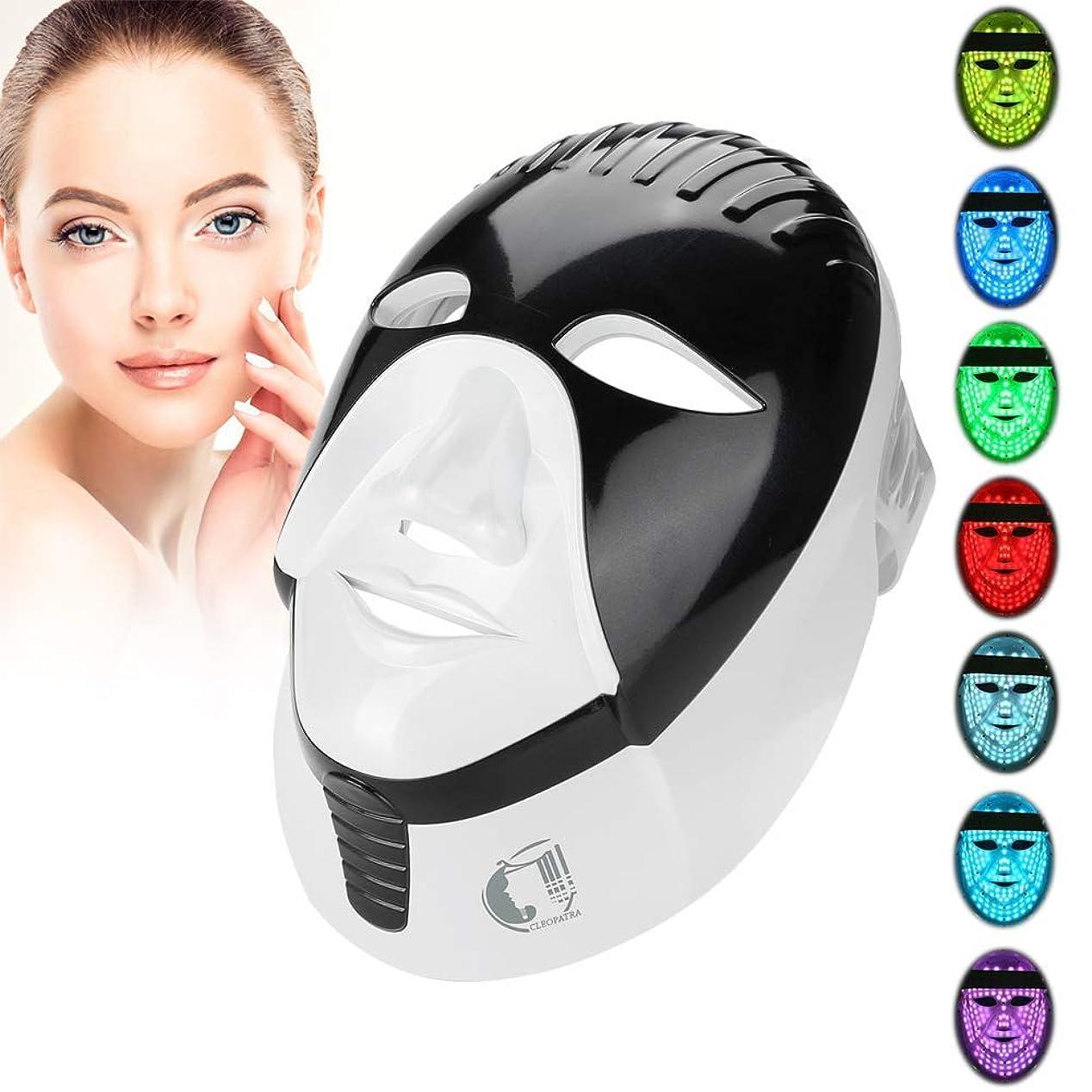 ペンス神秘的な不条理フォトンセラピー7色マスク、毎日のスキンケアの若返りにきびとしわの除去のための美光療法フェイシャル
