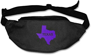 Gkf Waist Fanny Pack Texas Flag Map Running Sport Bag For Outdoors Workout Cycling