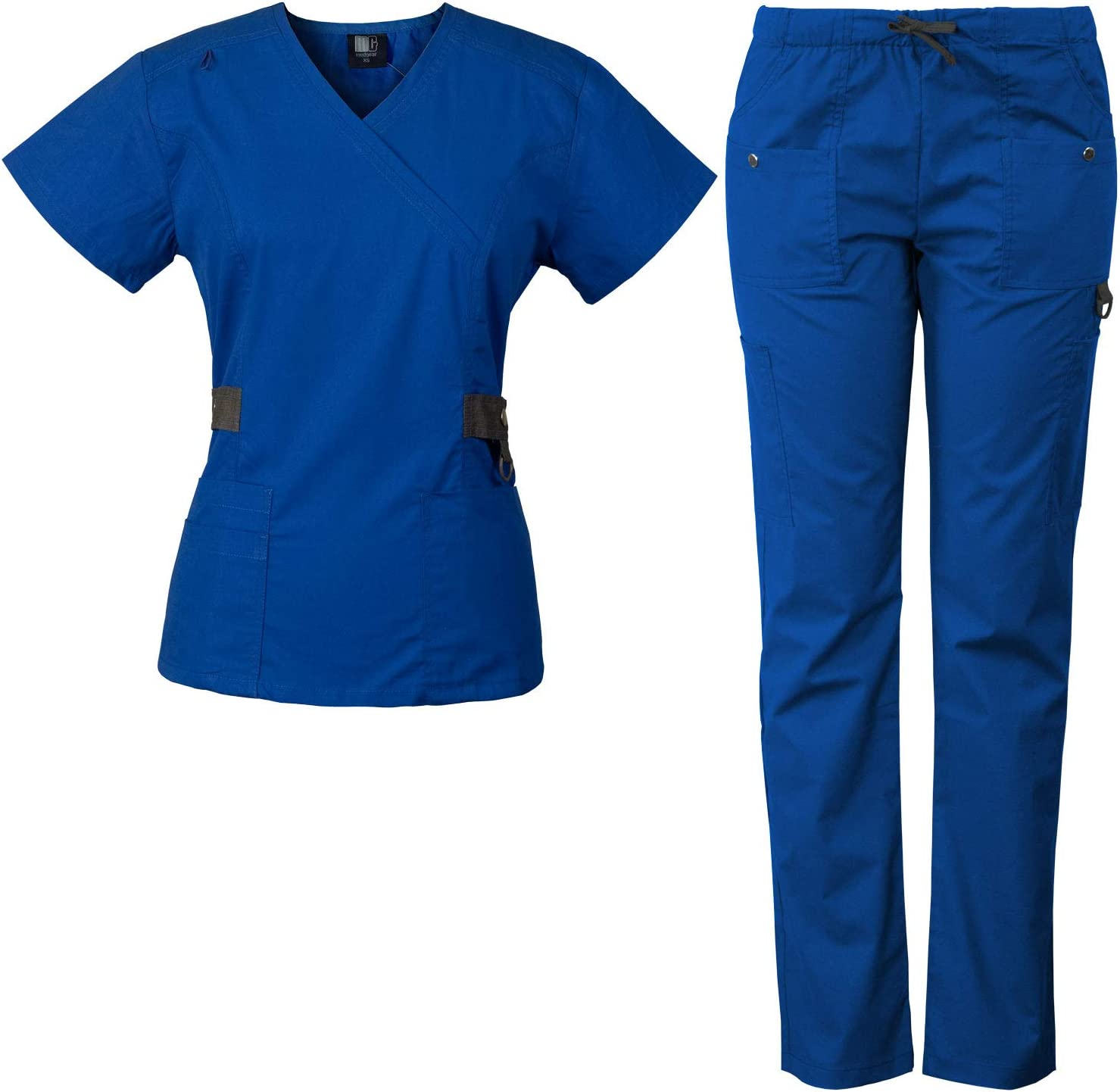 Luxury Max 45% OFF Medgear 12-Pocket Women's Scrub Set Silver Snap Co with Detail
