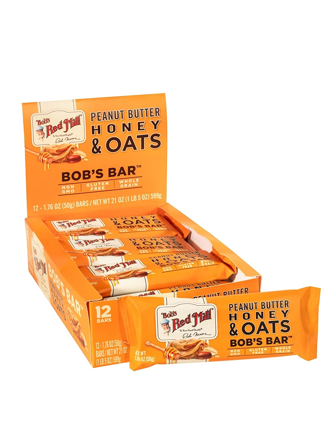 Bob's Red Mill Peanut Special Campaign Butter Honey Sale Special Price Oat Bars 12 of Case