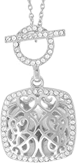 Fine Sterling Silver-Custom Photo Locket Necklace-That Holds Pictures for Women-The Amelia