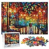 Cangroo Puzzle 1000 Piezas, Rainy Night Walk Puzzle,Puzzle Rompecabezas para Adultos y Niños,Paper Jigsaw Puzzles Classic Rompecabezas de Juguet,Juguete De Regalo Ideal(70 * 50cm)