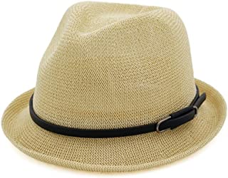 SHENTIANWEI 2019 Summer Sun Hat Women's Men Straw Hat Jazz Small Hat Outdoor Travel Hat Curling Fedora Hat