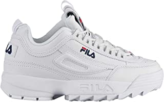 FILA Disruptor II Women's Sneakers, White/Red/Navy