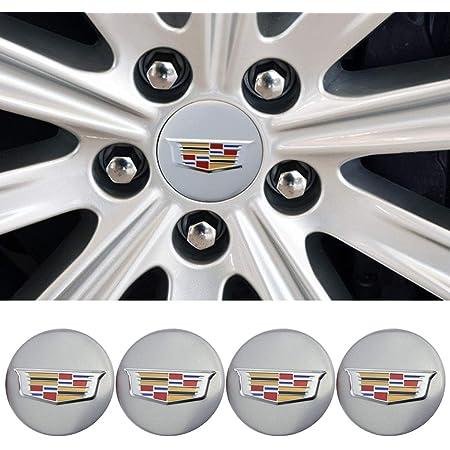 65mm Chrome Center Cap Emblem for Cadillac Wheels 9595010 4PCS Black YOJOHUA 2.56 Inch Wheel Center Hub Caps for 2004-2009 Cadillac ATS CTS DTS SRX XTS XLR