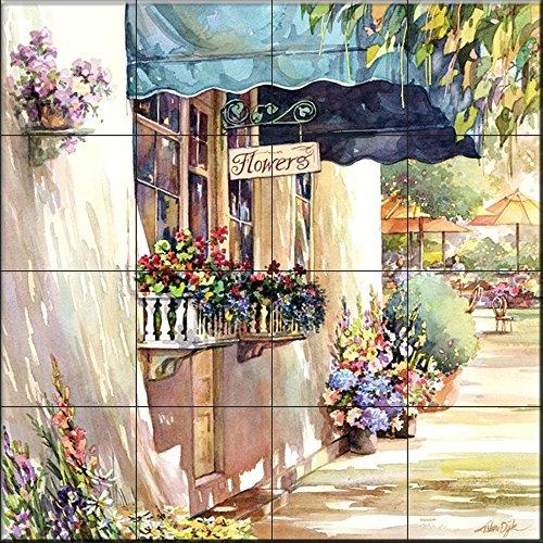 Keramik Fliesenbild - Blumenläden 2 - von Jerianne Van Dijk - Küche Aufkantung / Bad Dusche