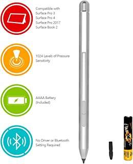 Surface Pen Microsoft Protocol Surface Stylus Pen with 1024 Levels of Pressure Sensitivity for Microsoft Surface Pro, Surface Go, Surface Book, Surface Laptop Including AAAA Battery & 3 Pen Tips