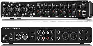 BEHRINGER UMC 404HD Audiophile 4X4 24-Bit/192 KHz USB Audio/Midi Interface with Midas Mic Preamplifiers Black