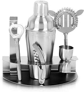7 Pcs Stainless Steel Bar Wine Tools Martini Cocktail Shaker Full Set